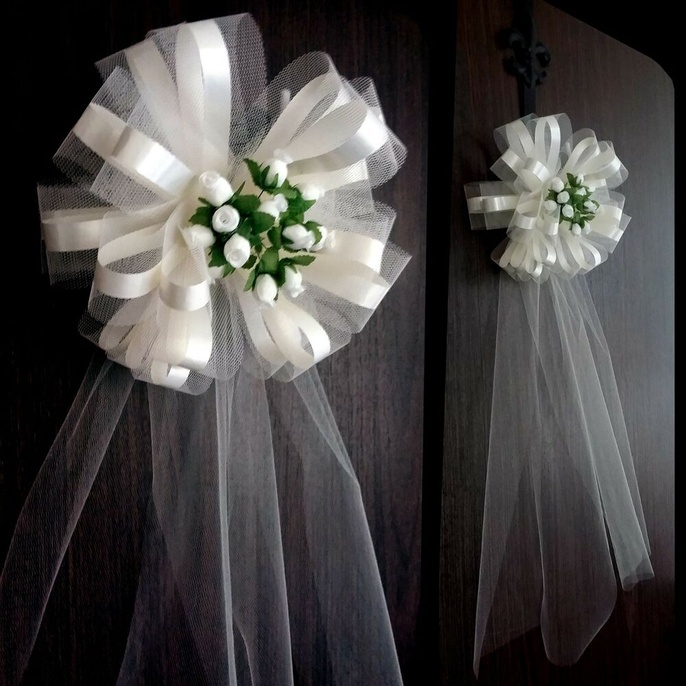 "Wedding Pew Decoration Ideas: 6 Large 10"" Ivory Wedding Pew Bows Church Decorations"