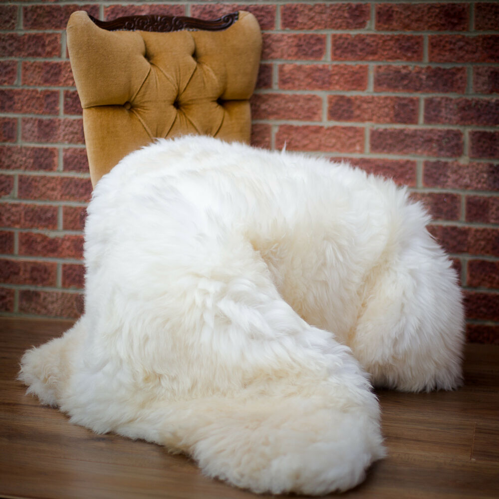 Natural Sheepskin Rug Large Very Fluffy And Soft Shaggy