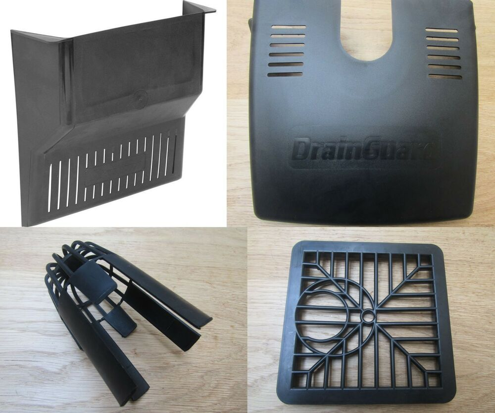 Black Traditional Gully Grid Grate Drain Cover Drainage