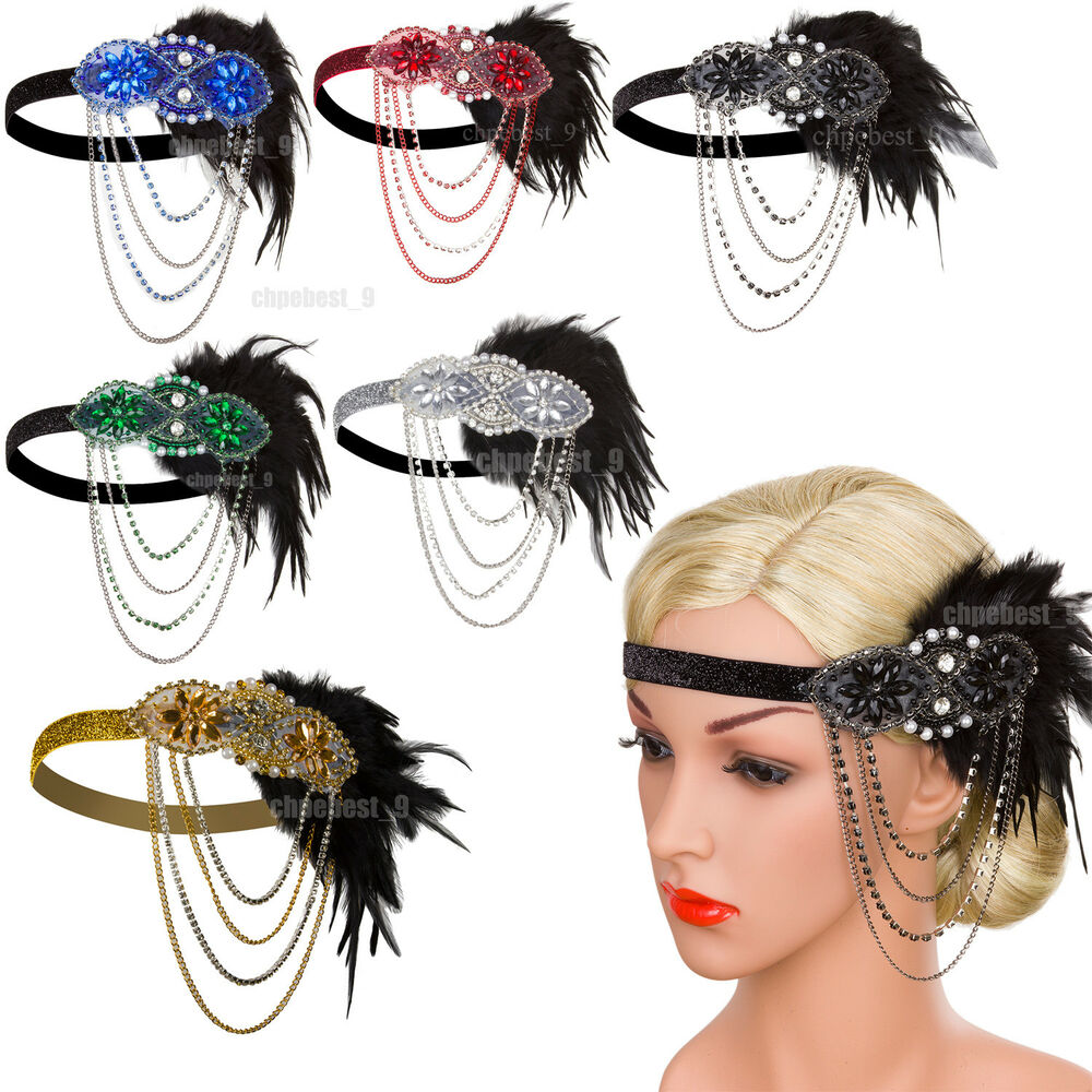 1920s 1930s Flapper Headband Party Accessories Great ...