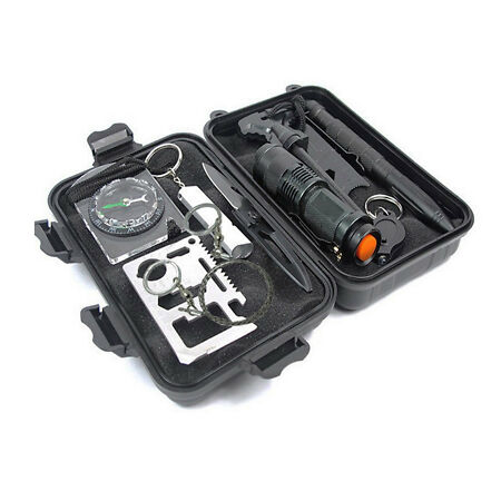 img-9 in 1 SOS Kit Outdoor Emergency Equipment Box For Camping Survival Gear Kit uk