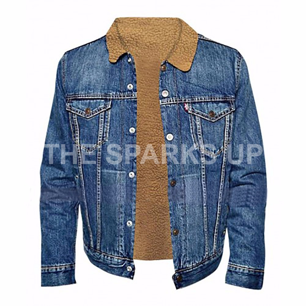 Love Simon Nick Robinson Simon Spier Mens Denim Jacket Best Quality