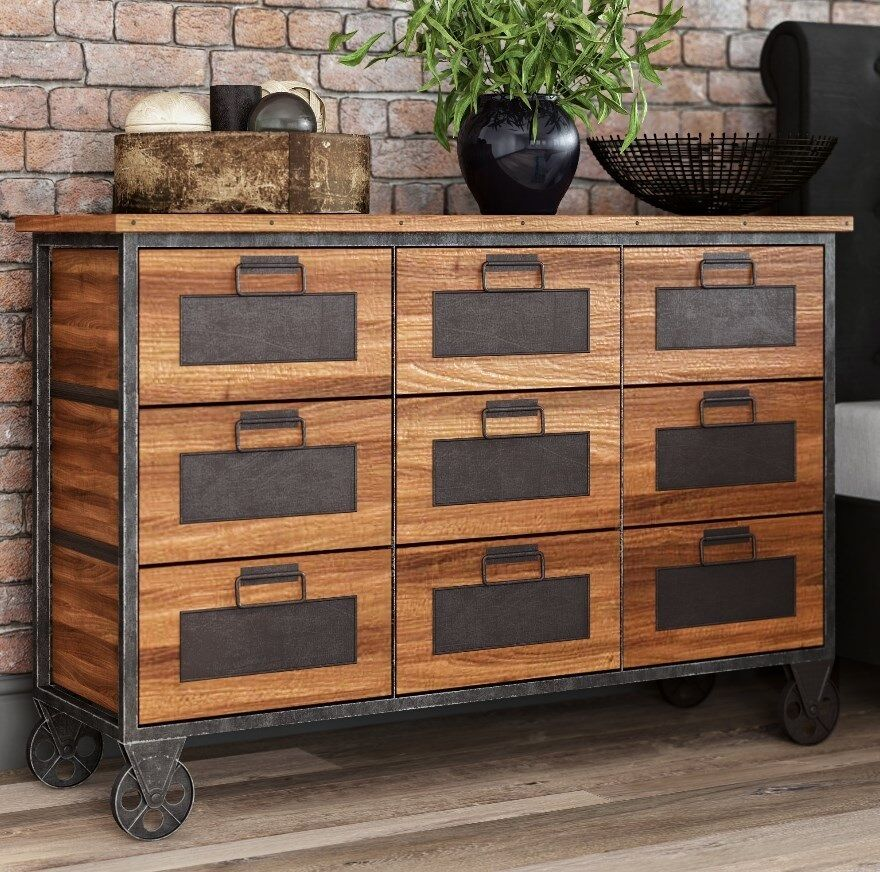 Vintage Industrial Furniture: Apothecary Chest Drawers Large Vintage Furniture Rustic