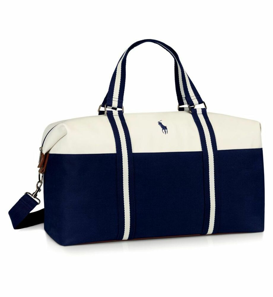 b5f349aa921 Details about Ralph Lauren Polo Mens Weekend Holdall Duffle Sports School  Gym Travel Bag NEW