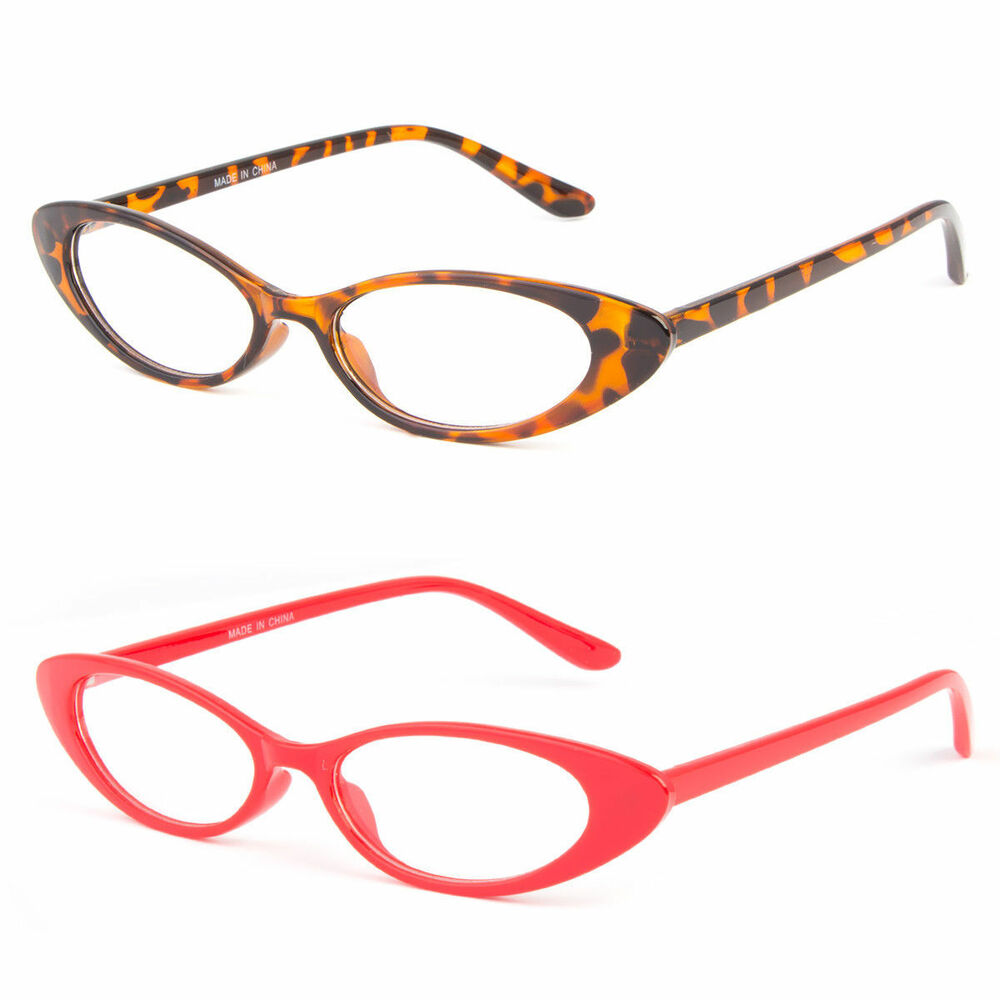 b0b115dee2 Details about Women CLASSIC VINTAGE RETRO CAT EYE STYLE CLEAR LENS EYE  GLASSES Small Frame 50s
