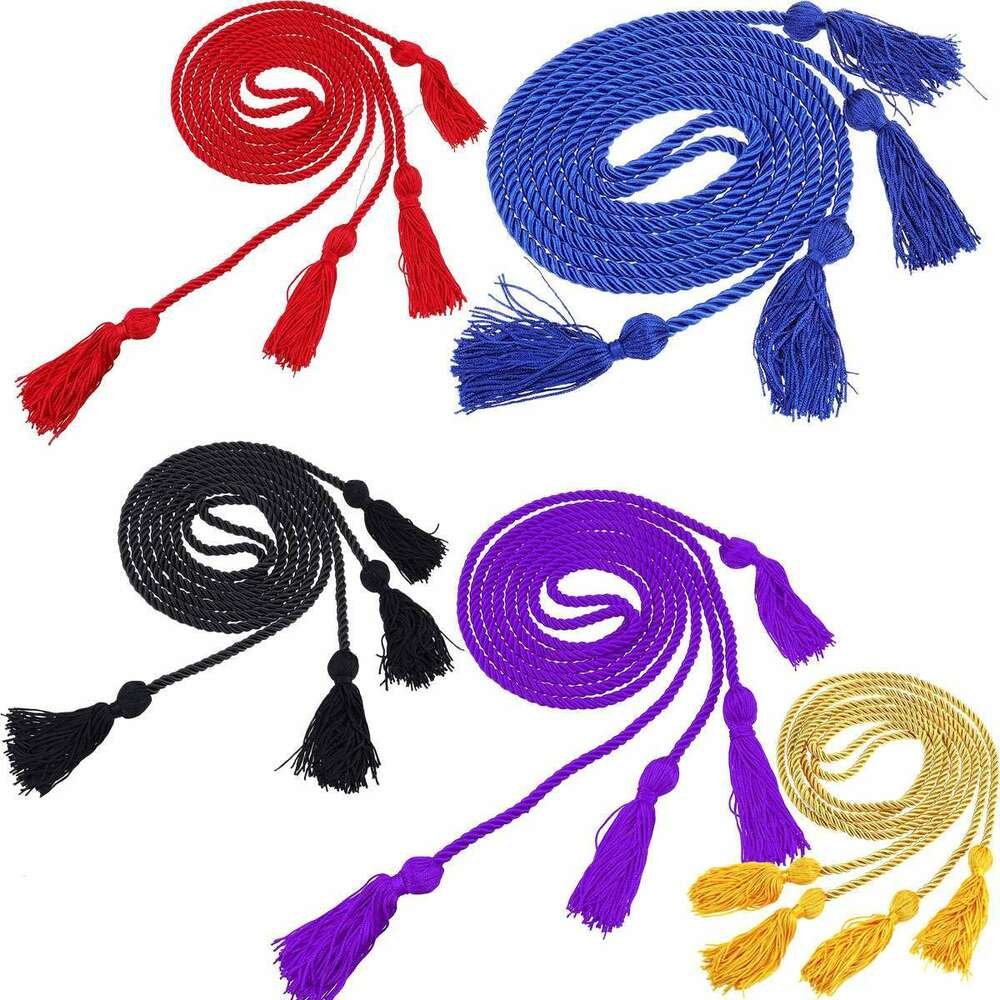 Braided Honor Graduation Robe Cords Tassels Baccalaureate Gown ...