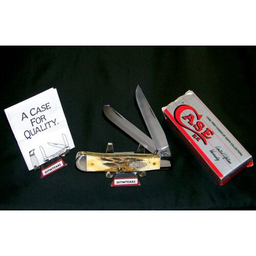 case-xx-5254-knife-genuine-sambar-stag-usa-trapper-1993-wpackaging-papers-rare