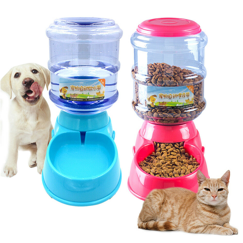 Dishes, Feeders & Fountains Cat Food Dispenser Pet Dog Feeder Bowl Automatic Auto Puppy Dish Animal Meal