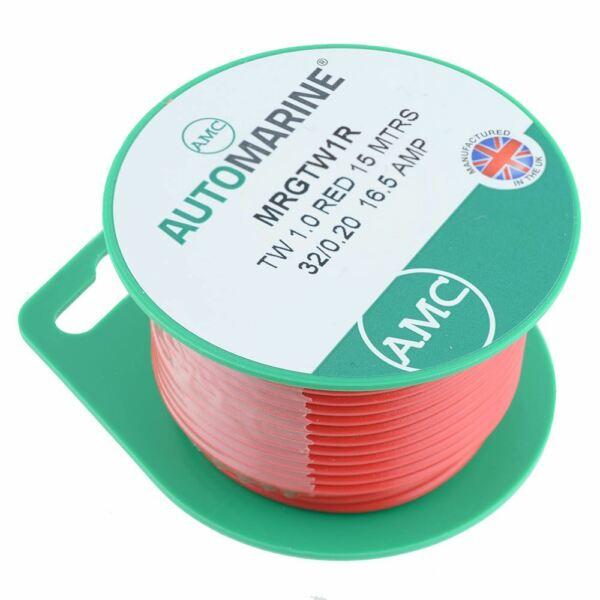 Marine 16AWG Auto Thin Wall TWIN CORE cable 2 x 1.5mm² TCC215TW 21amp