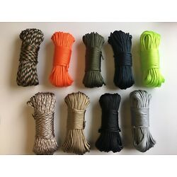 550 Paracord 7 Strand Core - 100ft - Multicolor - Outdoor Survival Rope