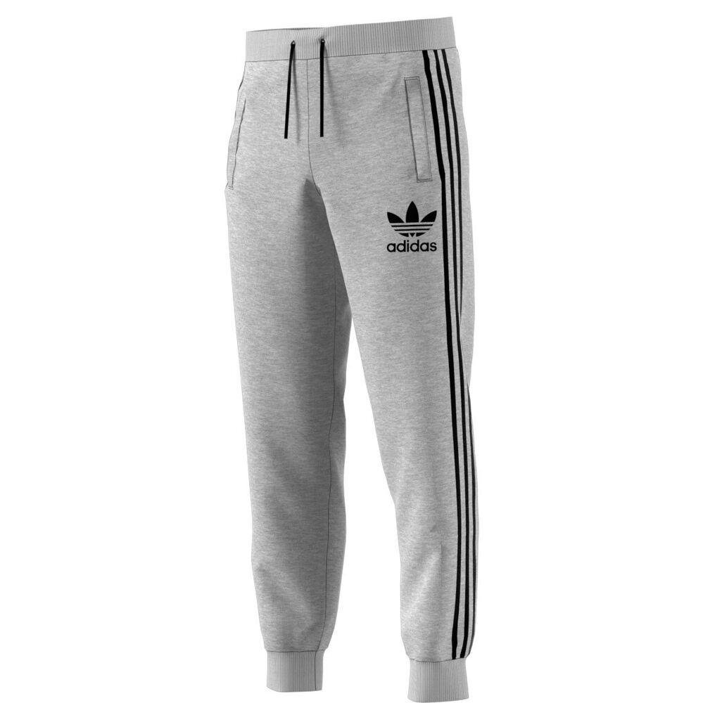 reputable site 55b2d 504f0 Details about Adidas Originals 3-Stripes French Terry Men s Sweat Pants  Grey Black br2159