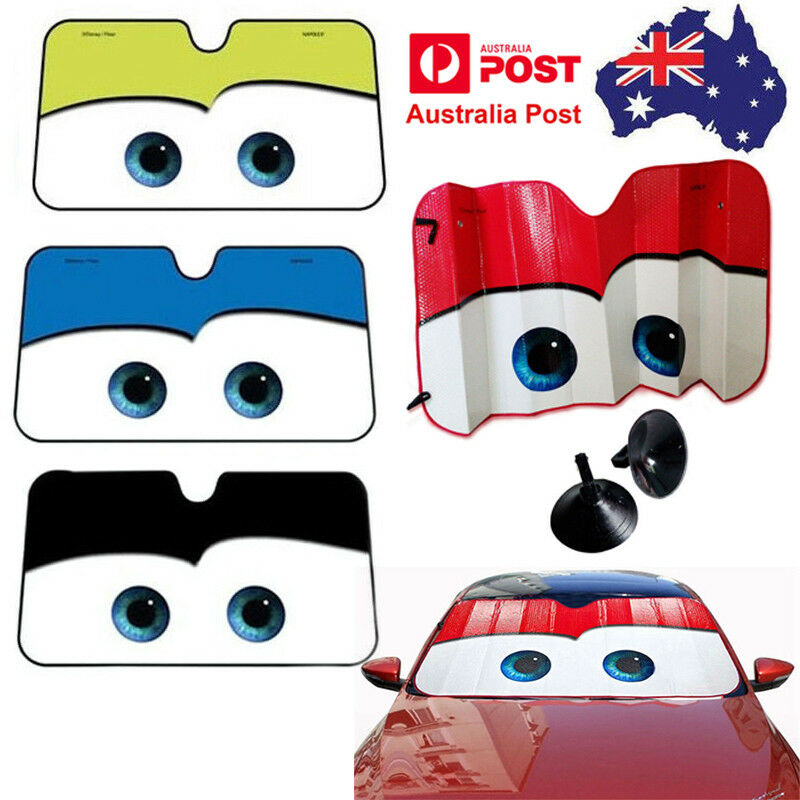 Details about Floodable Big Eye Cute Cars Front Auto Car Windshield Sun Sun  Shade Visor Cover c22ceb91967