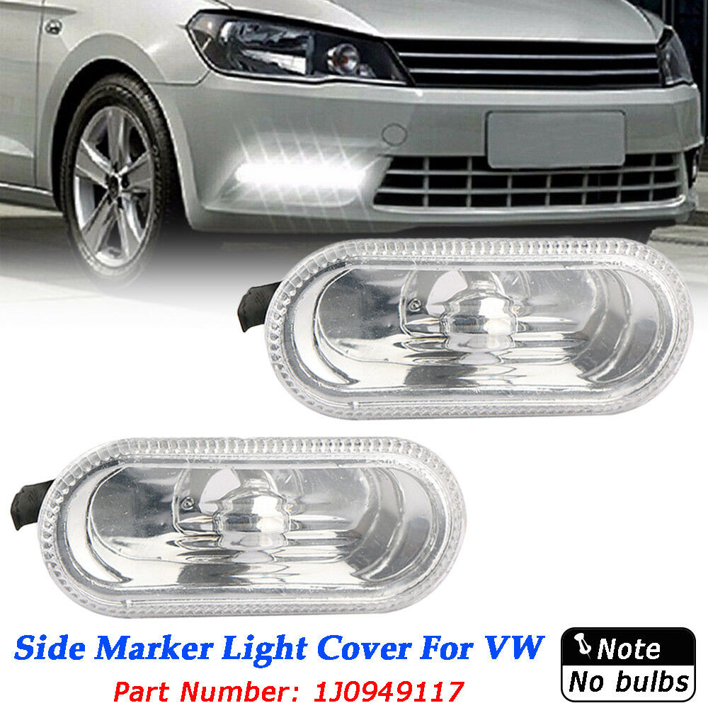 Details About Pair Clear Side Marker Light Indicators For Vw Pat B5 5 Golf Jetta Mk4 Iv