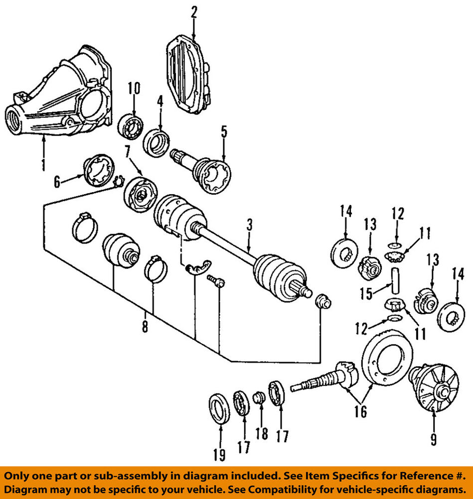 Cool Mercedes Mercedes Benz Oem 94 96 S420 Rear Axle Assembly Or Cv Shaft Wiring Cloud Pimpapsuggs Outletorg