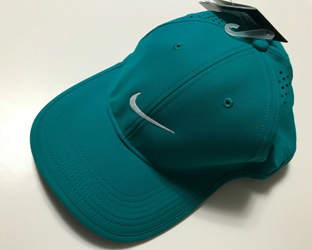 2097a94b13908 Nike 727040 Unisex Dri-Fit Golf Hat Cap Adjustable Gray Blue Charcoal Navy  Green