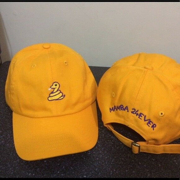 Details about Kobe Bryant-Black Mamba-24 Ever-Adjustable-Dad Cap-Hat  Limited Edition Gold d1a42113728