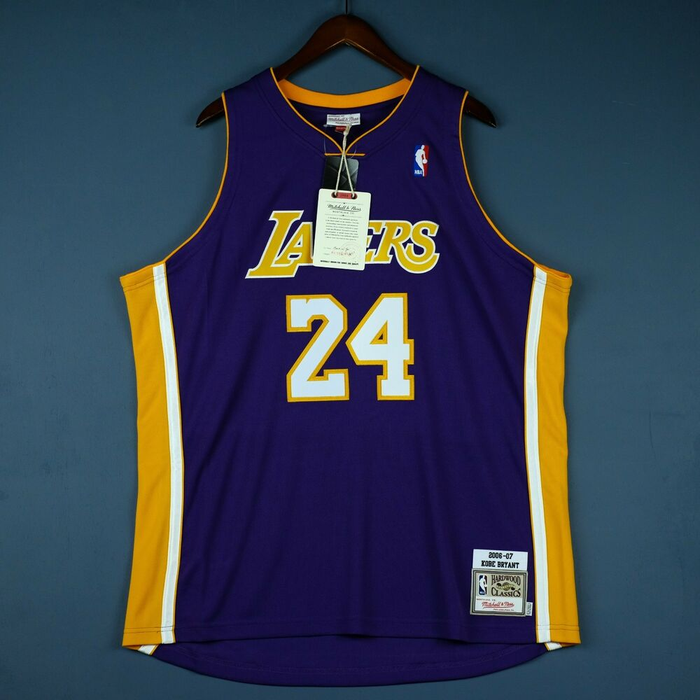 2eb2bbf6592 Details about 100% Authentic Kobe Bryant Mitchell Ness 06 07 Lakers NBA  Jersey 52 2XL Mens