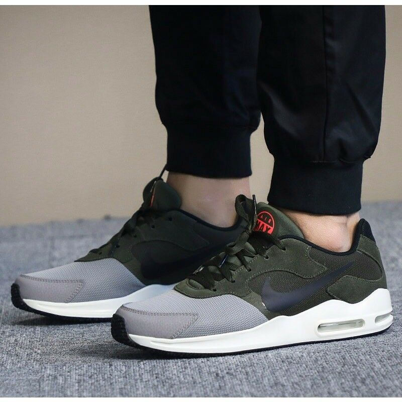 Details about Nike Air Max Guile Black Cargo Khaki Men Running Shoes 916768- 002 Free Shipping 042f74d68