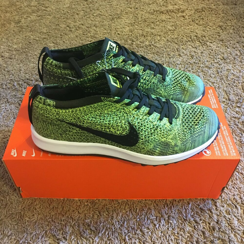 new product 4b42e 3caa5 Details about Nike Flyknit Racer G 9 Golf Shoes 909756 700 Limited Sample  Green Cleat Trainer