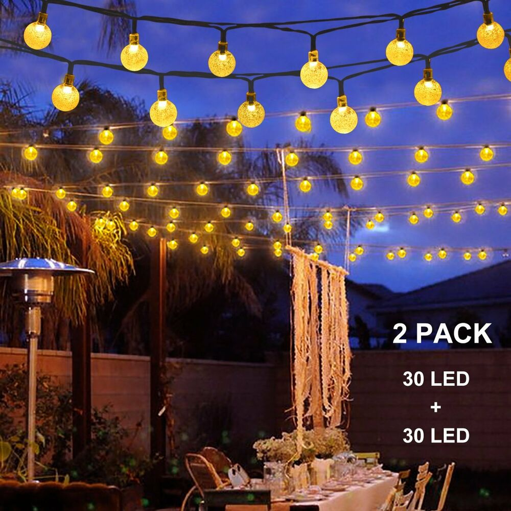 Binval Solar String Lights For Outdoor Patio Lawn