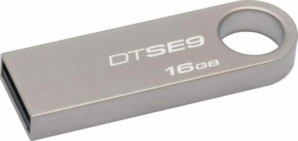 Pen Drive 64 GB Memoria Esterna USB Silver Kingston DTSE9H/16GB DataTraveler