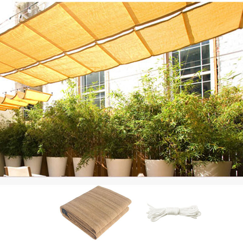 Details About Outdoor Garden Canopy Patio Rectangle 3 Sizes Shade Net Sun Sail Fs Uv