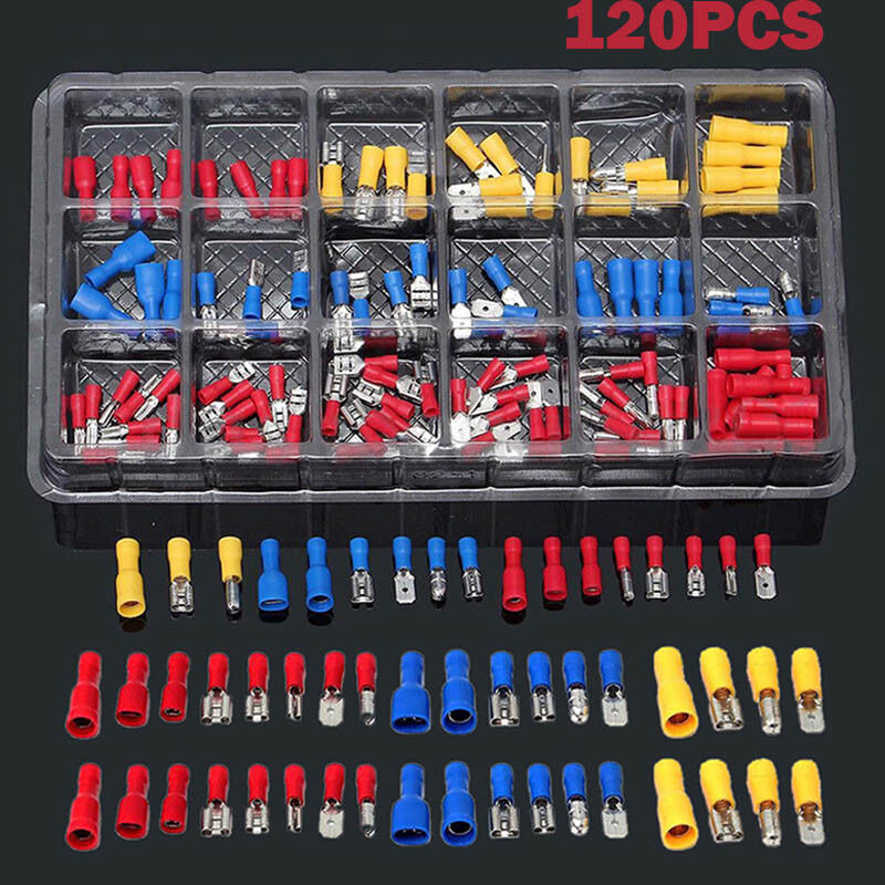 Electrical Assorted Insulated Wire Cable Terminal Crimp