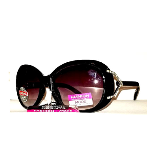 foster-grant-fashion-mode-glitter-black-silver-v-rhinestones-100-uv-sunglasses-