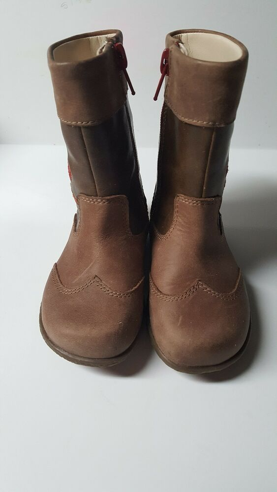 12474a4dc682 Details about Clarks Jenna Owl Toddler Girls BOOTS size 5