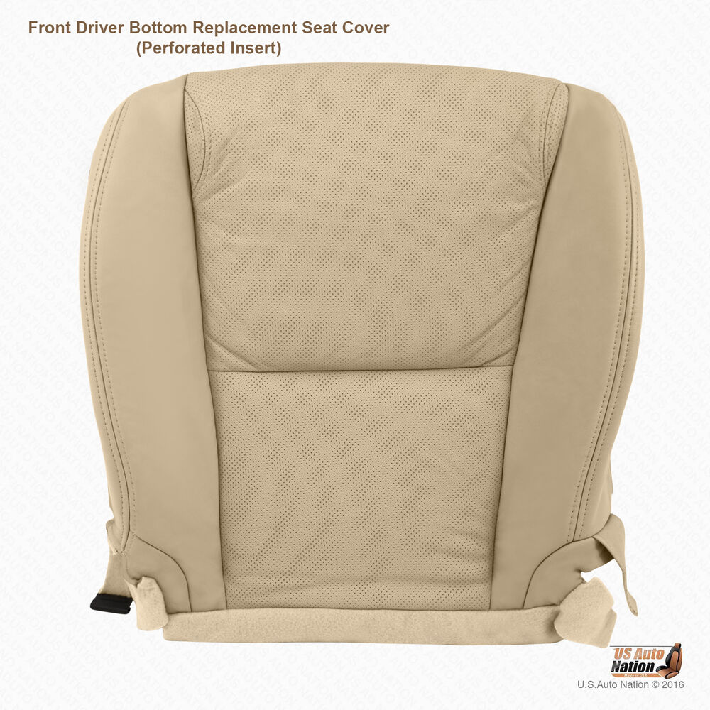 2010 Lexus Gs 350: Front DRIVER PERFORATED LEATHER Seat Cover For TAN 2010