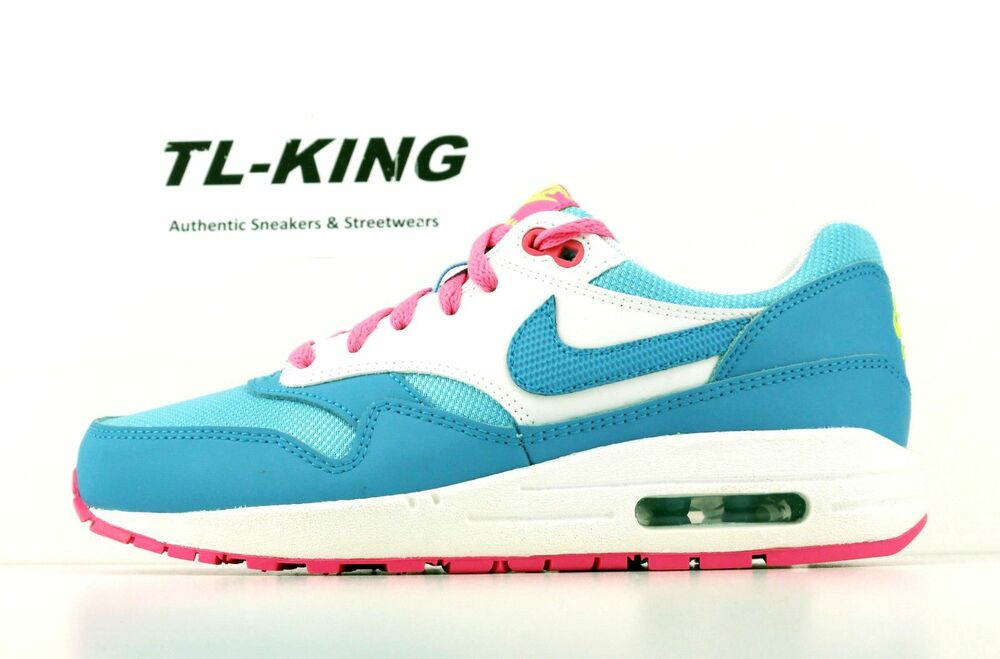 7b9d5570674e6 Details about Nike Air Max 1 GS Youth Clear Water Pink Power Blue White  653653 400 Msrp  85 AS