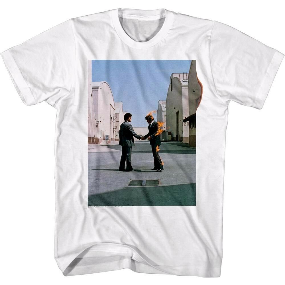 c7a971b3 Details about Pink Floyd Wish You Were Here Album Cover Men's T Shirt Fire  Handshake Concert