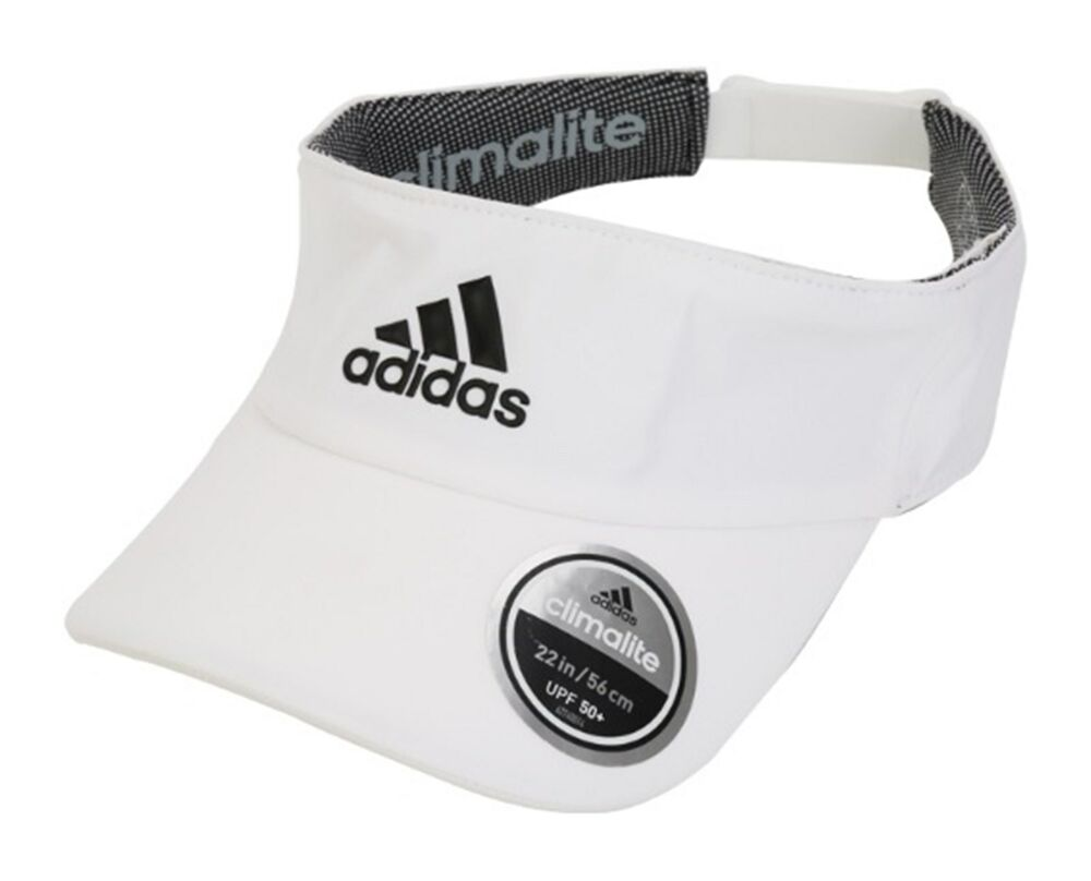 3469fd4f0bd4 Details about Adidas Climalite Visor Caps Running Hat Golf White Adjustable  Hats Cap S97578
