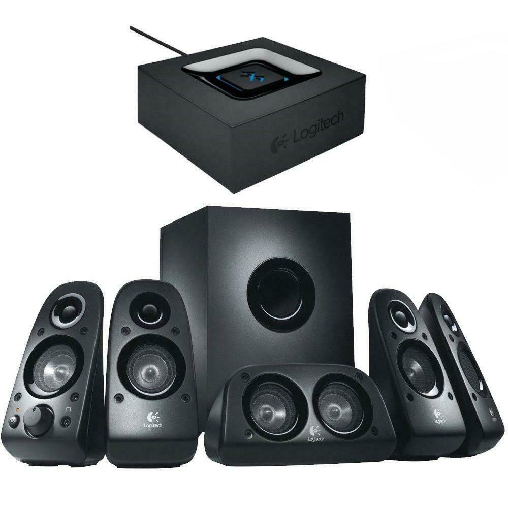 Logitech Z506 Surround Sound Speakers with Bluetooth Audio Adapter 5.1 3D  Stereo 97855092762 | eBay