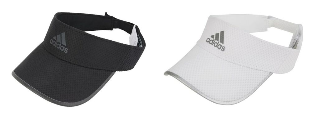 Details about Adidas Running Climacool Visor Caps Hat White Black  Adjustable Hats Cap CF5236 8ffb420db33