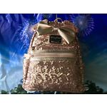 Disney Parks & Loungefly Rose Gold Minnie Backpack Purse Bag Sequin Mini - NWT