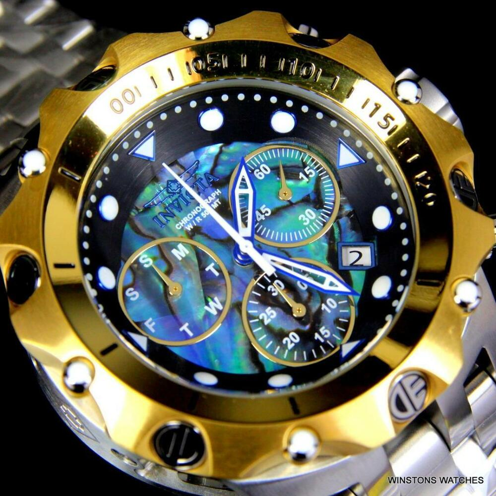 34cfd5160e8 Details about invicta venom hybrid abalone chronograph steel gold plated  watch new jpg 1000x1000 Venom hybrid