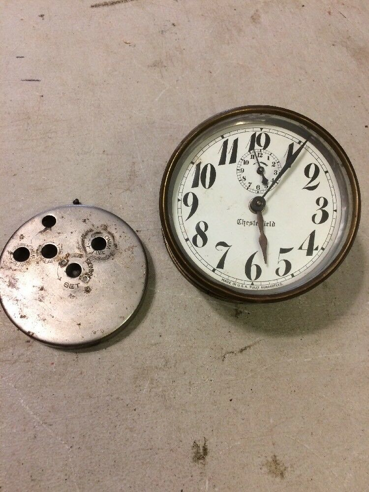 Vintage Chesterfield Alarm Clock Made In Usa Ebay