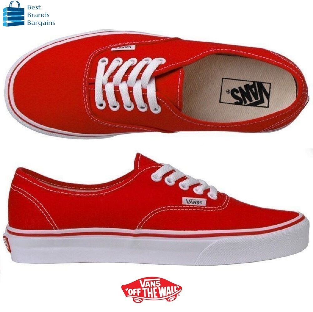 af8f99296f Details about Vans Authentic Red Classic shoes USA WOMEN SIZE 11.5