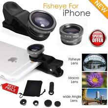 180° Wide Angle Fish Eye Macro Clip Camera Lens Kit for iPhone 6S 7 Mobile Phone