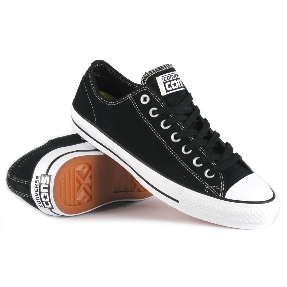 f54cedd4ce18 Details about Converse CONS CTAS PRO Black White Skate Shoes ALL SIZES NEW  BOXED Free UK Post