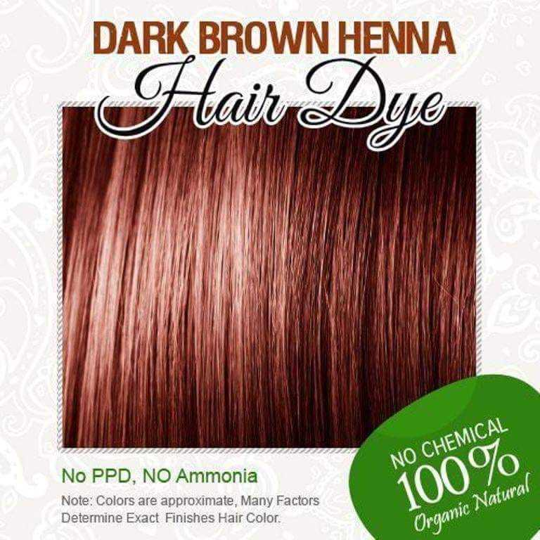 Dark Brown Henna Hair Dye - 100% Organic and Chemical free henna for ...