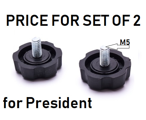 1K SET OF 2 CB RADIO SCREW MOUNTING KNOBS SCREW M5 PRESIDENT UK STOCK