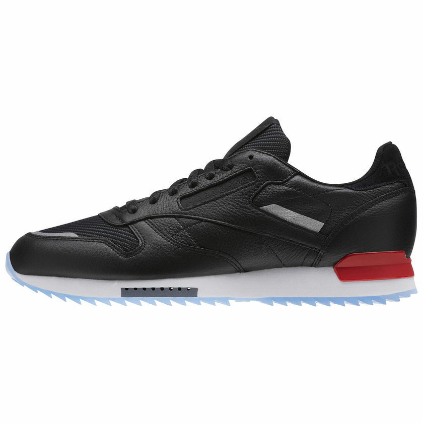 febae7cb27aad4 Details about REEBOK CLASSIC CL LEATHER RIPPLE LOW BP MEN S SHOES Black Red DustIce  BS5218