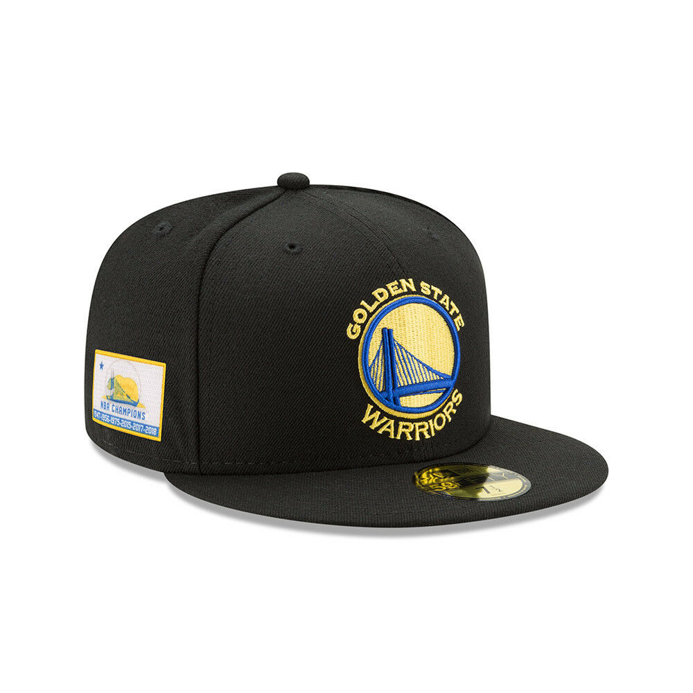 15a5f66bceb Details about Golden State Warriors 6 Time NBA Finals Champions 59Fifty Side  Patch Fitted Hat