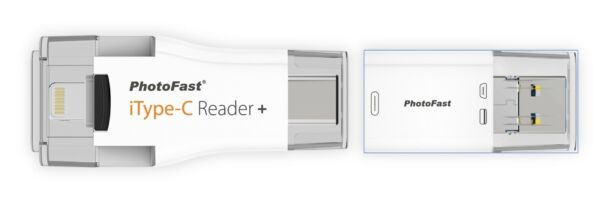 PhotoFast iTypeC Reader+ iOS All-in-One Flash Drive MFi for iPhone iPad backup