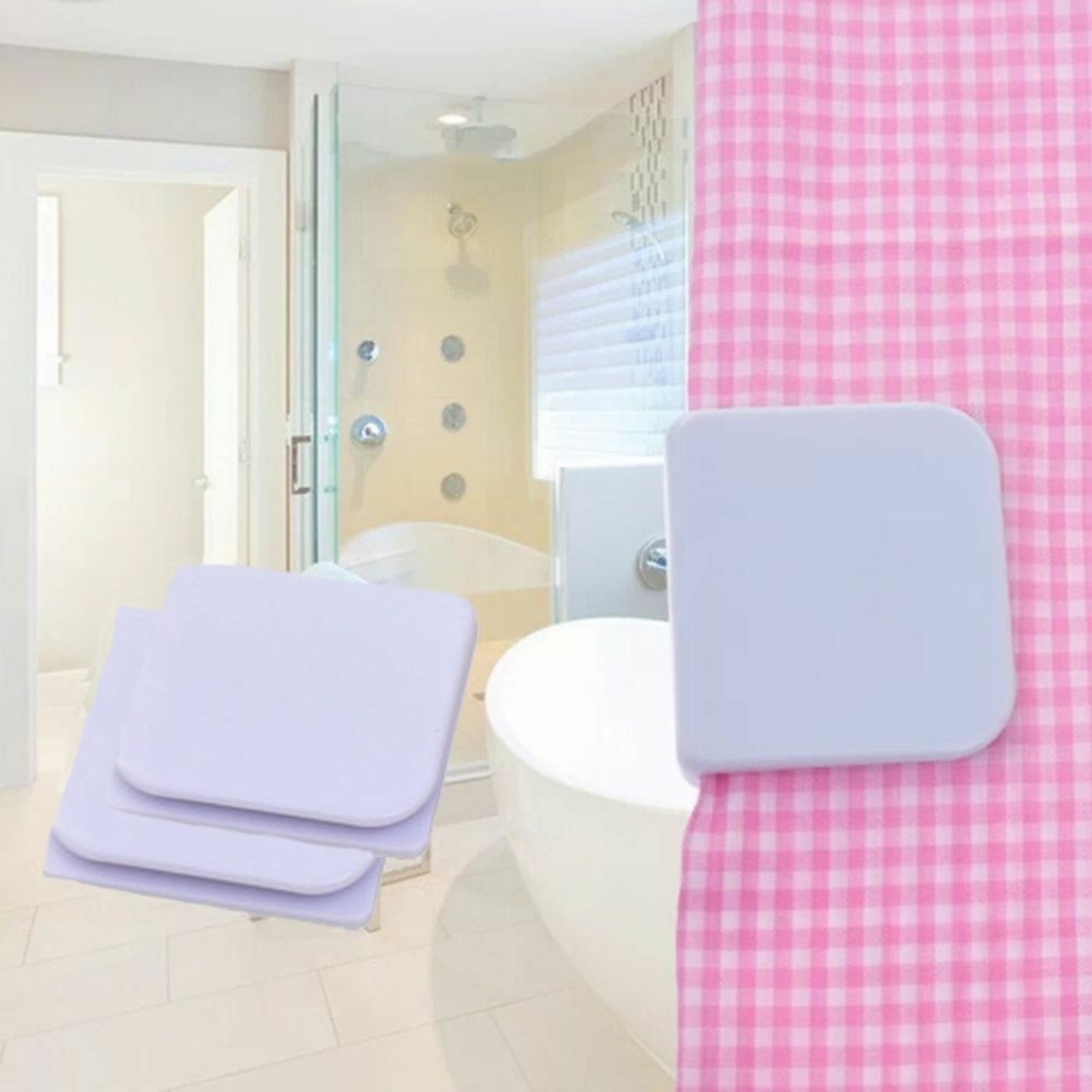 Details About 2pcs Set Shower Curtain Clips Anti Splash Spill Stop Water Leaking Guard Bath
