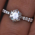 1.90 Carat 925 Sterling Silver Round Shape Solitaire Good Quality Wedding Ring