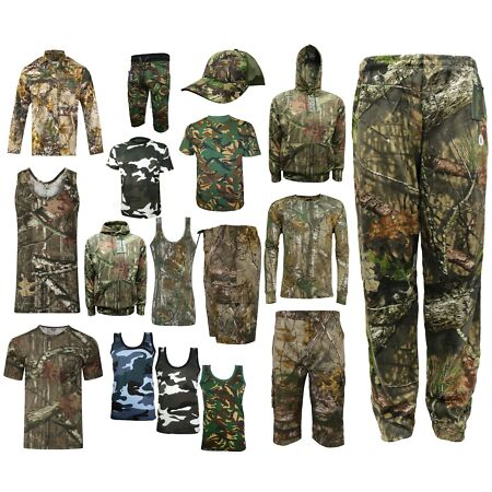 img-Men's hunting RealTree green Camouflage T-Shirt Forrest Print Long & Short top