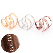 Dreadlock Beads Tube Ring for Braids Hair Beads Adjustable Braid Cuff Clip SY